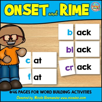 Onset and Rime - {Word Building Cards}