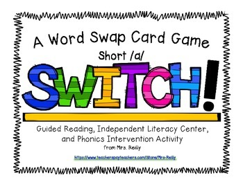 Onset/Rime Card Game - SWITCH Short/a/