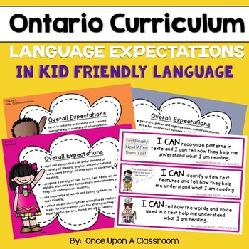 Ontario Curriculum - Gr 2 - Language - Overall & Specific