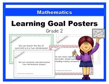 {Grade 2} Mathematics Learning Goal Posters