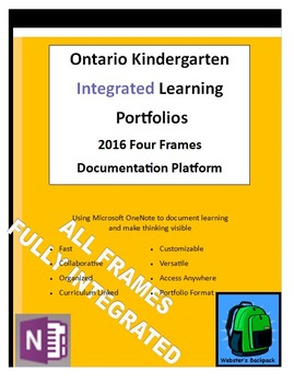 Ontario Kindergarten Integrated Four Frames Learning Portf