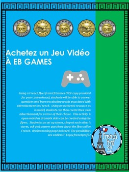 Ontario French Authentic task Video Game shopping activities