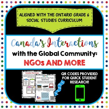 Canada's Interactions in the Global Community:  NGOs and M