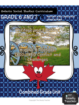Ontario History and Social Studies Unit (Grades 6 and 7): PART 2