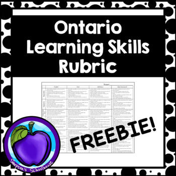 Ontario Learning Skills Rubric