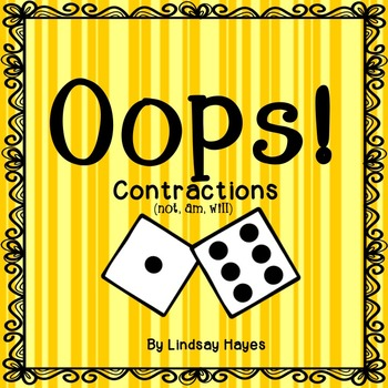 Oops: A Contractions (not, am, will) Game, Reading Street
