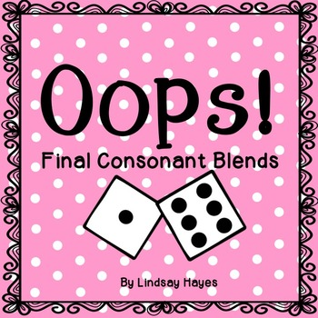 Oops: A Final Consonant Blends Game, Reading Street Unit 1