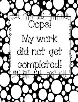 Oops No Work Binder
