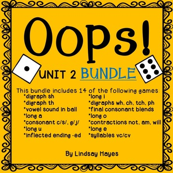 Oops: Reading Street Unit 2 BUNDLE