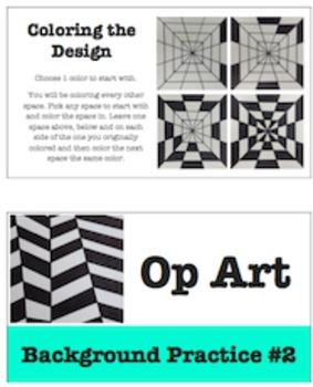 Op Art Background Design Practices