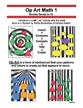 Op Art Math 1, Number Bonds to 10, Compose, Compare, Part-