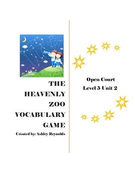 Open Court (5th Grade) - The Heavenly Zoo Vocabulary Game