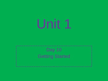Open Court Phonics Power Point-Getting Started Day 10