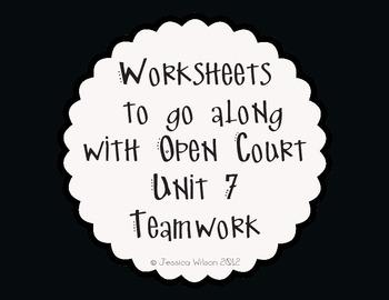 Open Court Unit 7 Worksheets