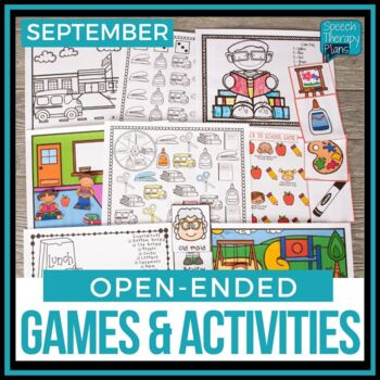 Open Ended Language & Articulation Games - September