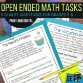 Open Ended Math Challenges Set 2--Grades 3-5