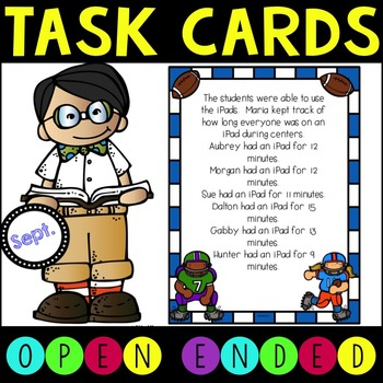Open Ended Math Task Cards for Higher Level Thinking - Sep