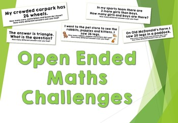 Open Ended Maths Problems