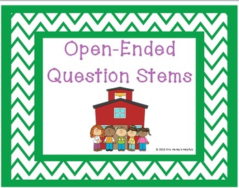 Open-Ended Question Stems