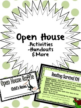 Open House Activities, Handouts, & More