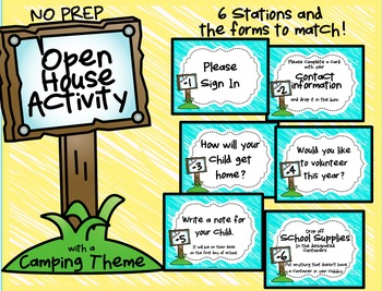 Open House Activity: Stations and Info Forms (Camping/Outd