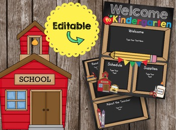 Open House Brochure - EDITABLE - Welcome to Kindergarten -