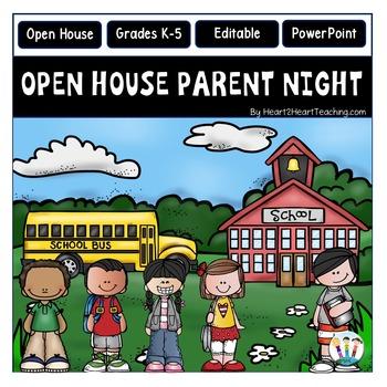 Open House PowerPoint - Meet the Teacher - Parent Night {E