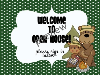 Open House Directions--Camping Themed