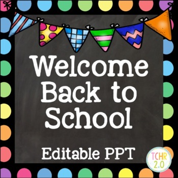 Open House Editable PowerPoint PPT Back to School Rainbow