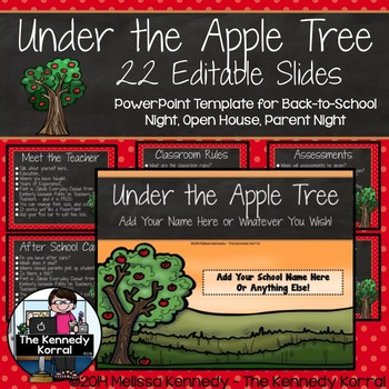 Open House or Back-to-School: Apples - Editable PowerPoint