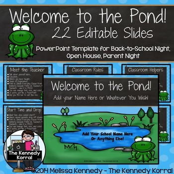 Open House or Back-to-School: Frogs - Editable PowerPoint