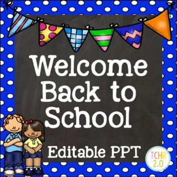 Open House Editable PowerPoint PPT Back to School