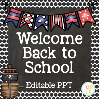 Open House Editable PowerPoint PPT Back to School Pirates