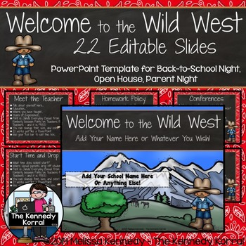 Open House or Back-to-School: Western / Cowboy - Editable