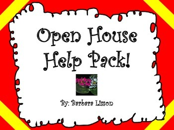 Open House Help Pack (Back to School!)
