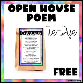 Open House (Meet the Teacher) Poem