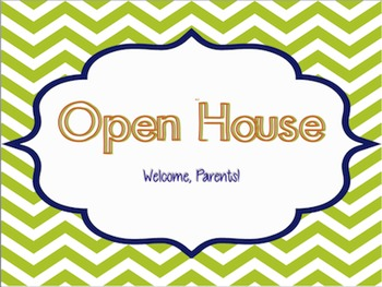 Open House PPT & Parent Wishes Activity