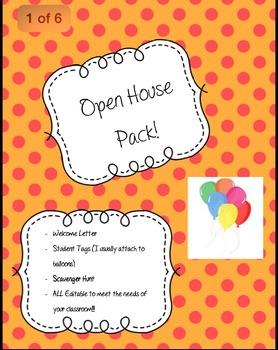 Open House Pack! EDITABLE