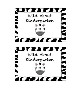 """""""Wild About"""" - Labels for Open House Freebie"""