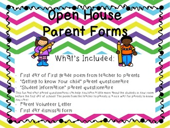 Open House Parent Questionnaires