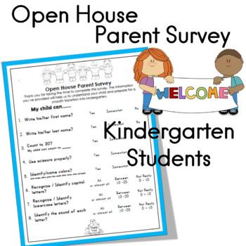 Open House Parent Survey for Rising Kindergarten Students