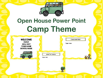 Open House Power Point -Camp Theme