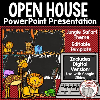 Back to School Open House Editable PowerPoint Template