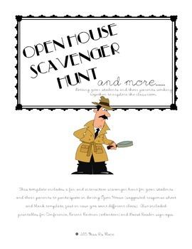 Open House Scavenger Hunt & More