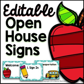 Open House Station Signs (Editable)