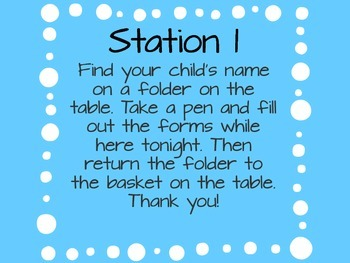 Open House Stations- Polka Dots- FREEBIE!!!