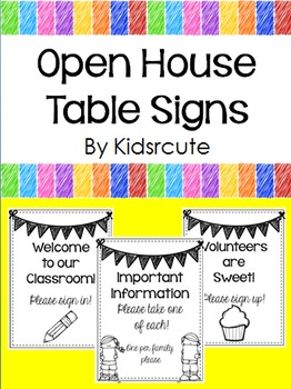 Open House Table Signs {Freebie}