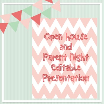 Open House and Parent Night chevron presentation - Editable
