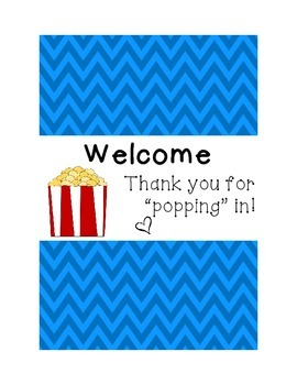 Open House or Back to School Night Popcorn Wrapper Thank y