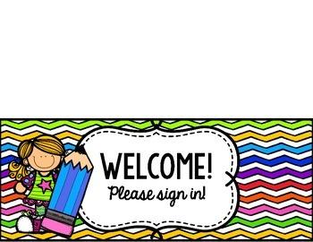 Open House/Meet the Teacher Table Signs *Freebie*